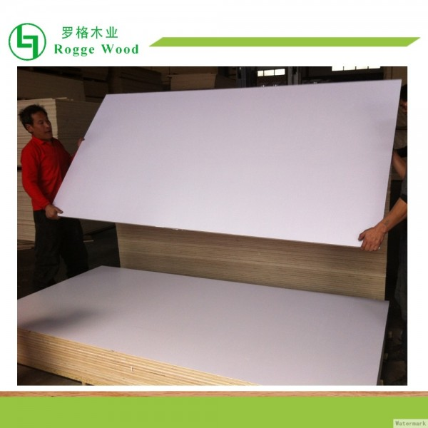 Paper Faced Plywood ~ White melamine paper faced plywood